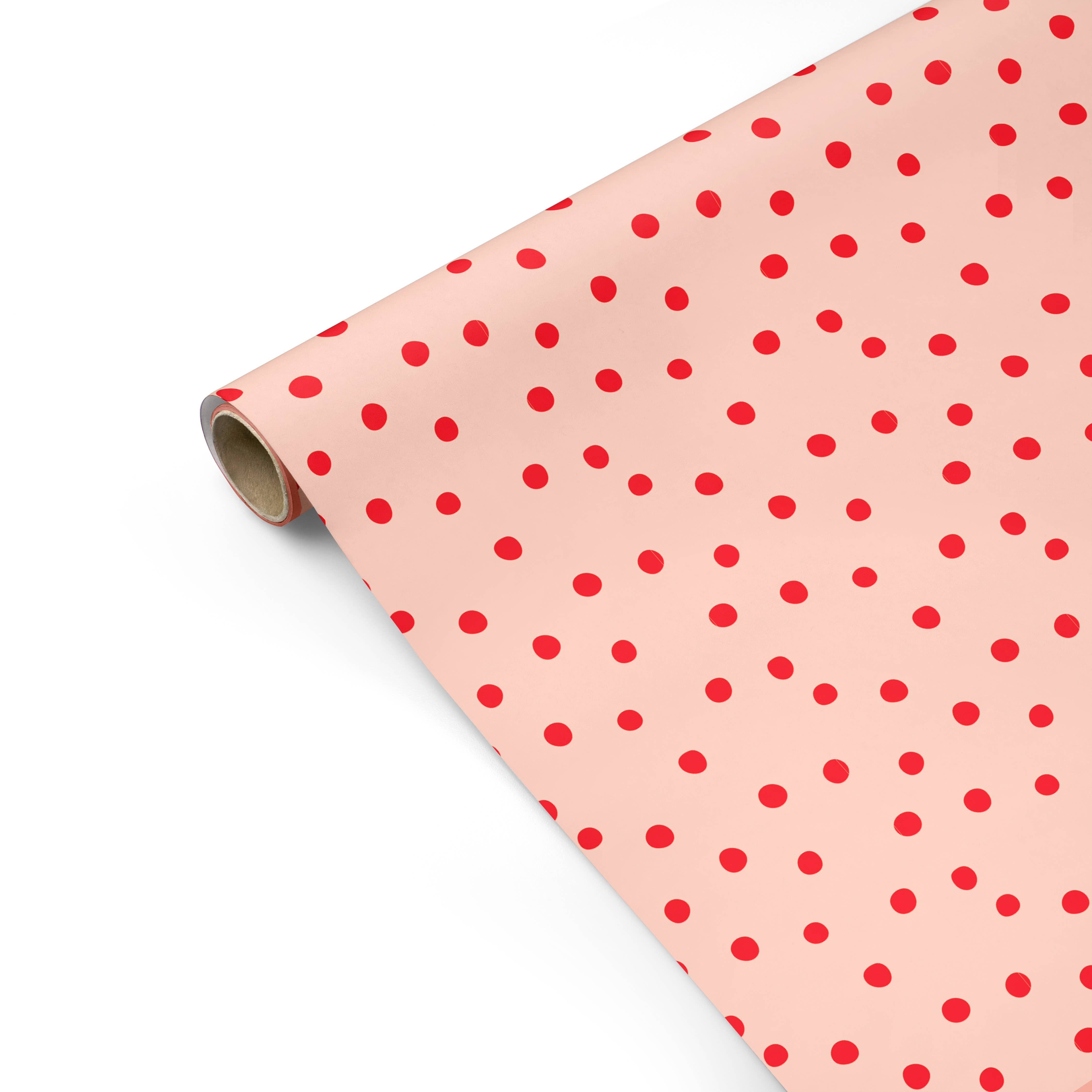 Modern Polka Dots Gift Wrap - Roll of 3 Sheets