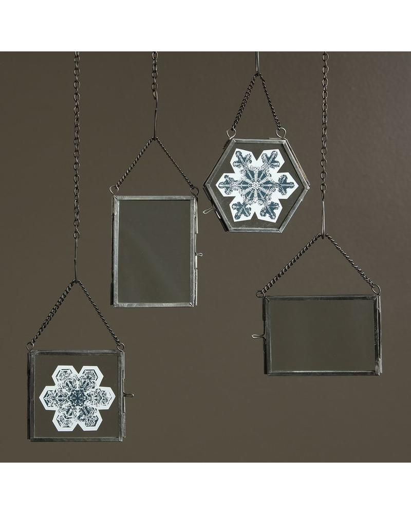 Hexagon Zinc Ornament Frame - Pierre