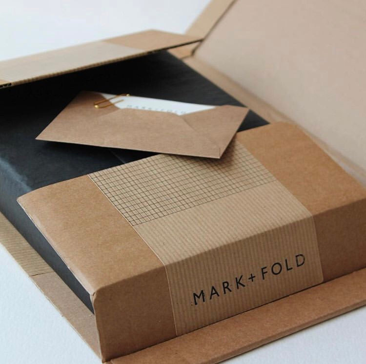 Sustainable packaging, Mark+Fold stationery