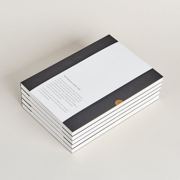 Notebook Mark One by Mark+Fold the modern stationer. Layflat notebook, ota-binding with thread-sewn sections and cold glue