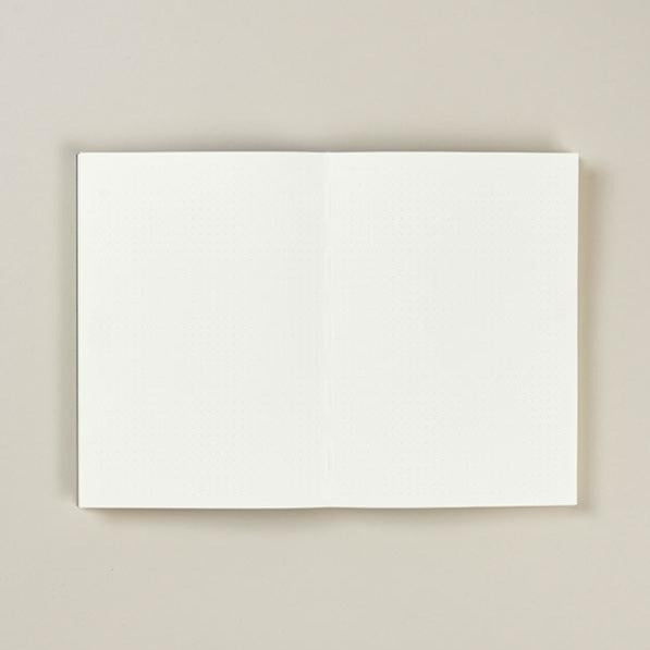 Mark+Fold dot grid pages. Mark+Fold is a modern British stationer, creating sustainable small-batch stationery that is exceptionally good quality. Olin 120gsm smooth cream paper suitable for fountain pen.