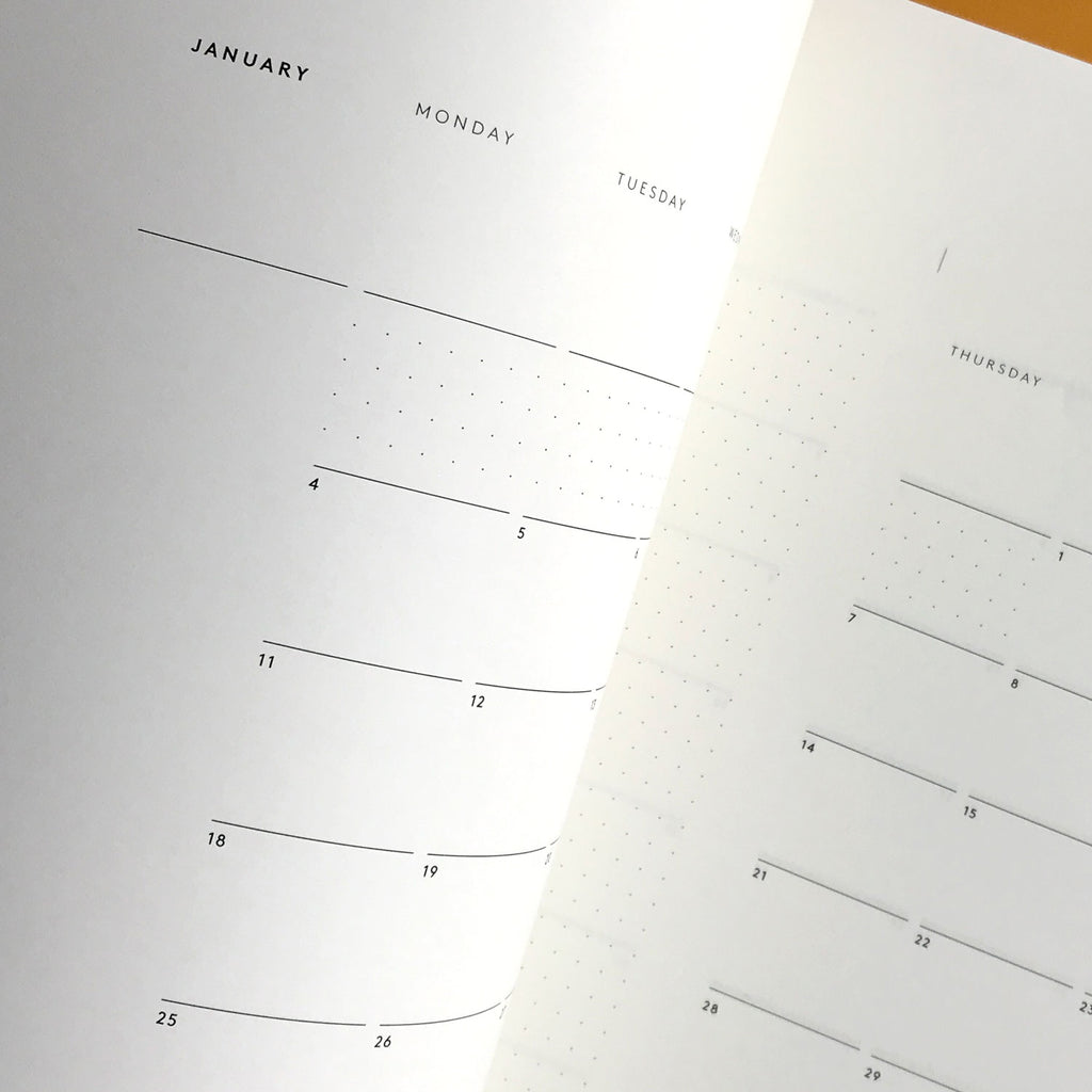 Mark+Fold 2021 Monthly planner