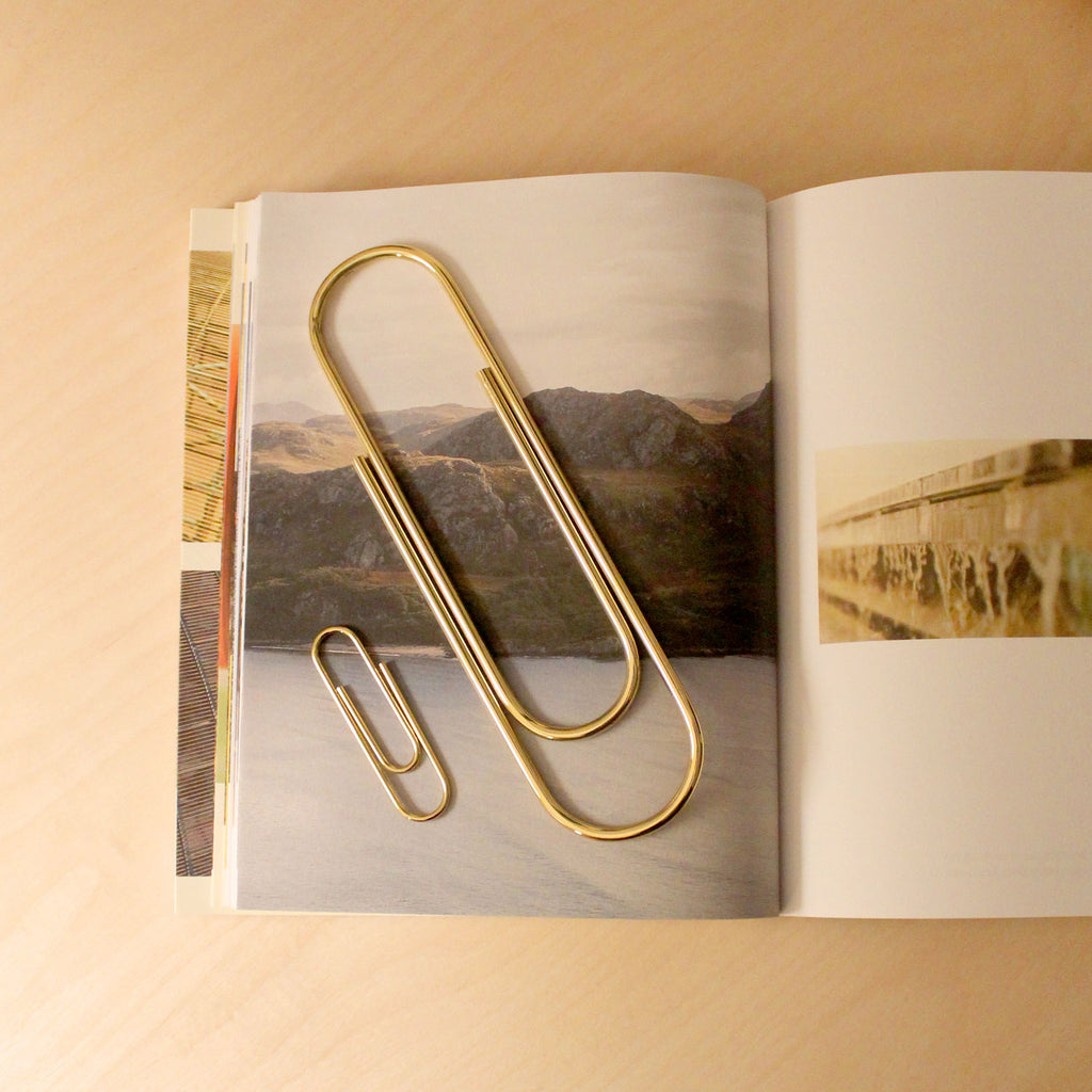 Carl Auböck Paperclip in Solid Brass, for Mark+Fold, luxury desk object, made in Vienna