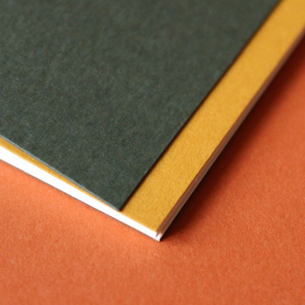 Hand-made Exercise Books. Made by hand at the Mark+Fold studio in London using waxed linen thread. Made October 2020.