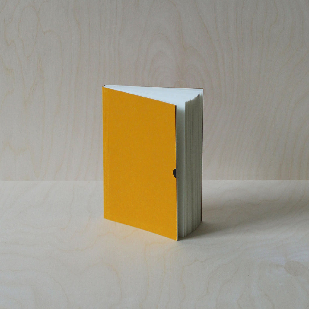 Mark+Fold dot grid notebook in Mustard. Layflat notebook. Paper made in Scotland, suitable for fountain pen. Minimal modern stationery, understated, markandfold.com