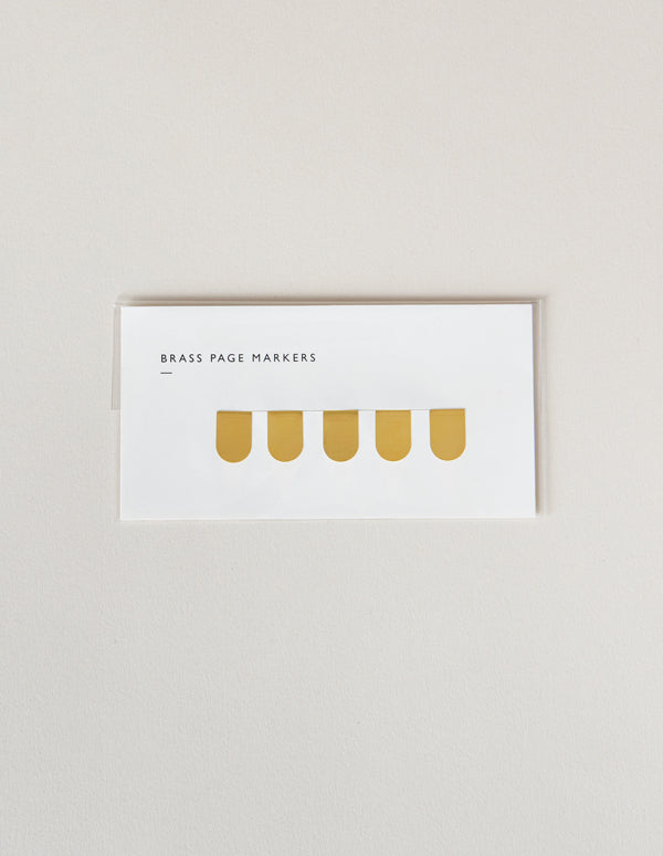 Brass pager markers from Mark+Fold