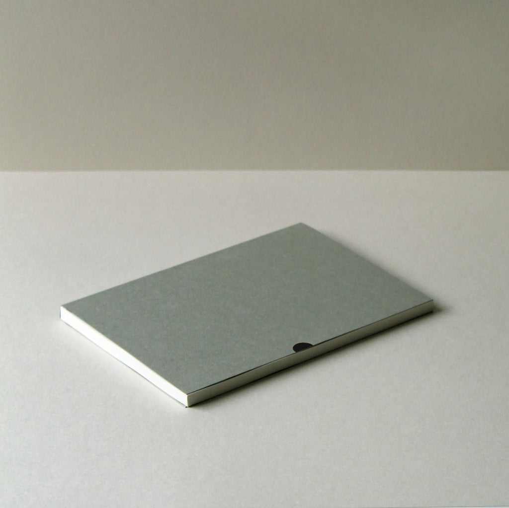 Mark+Fold notebook in Lichen, laylflat notebook, plain pages, sustainably made sustainable eco stationery