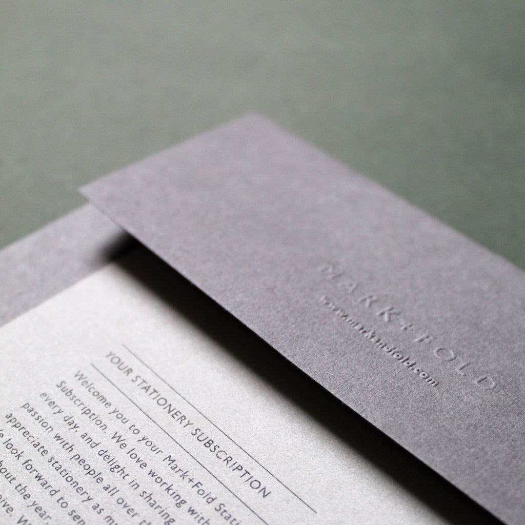 Mark+Fold Stationery Subscription Welcome pack