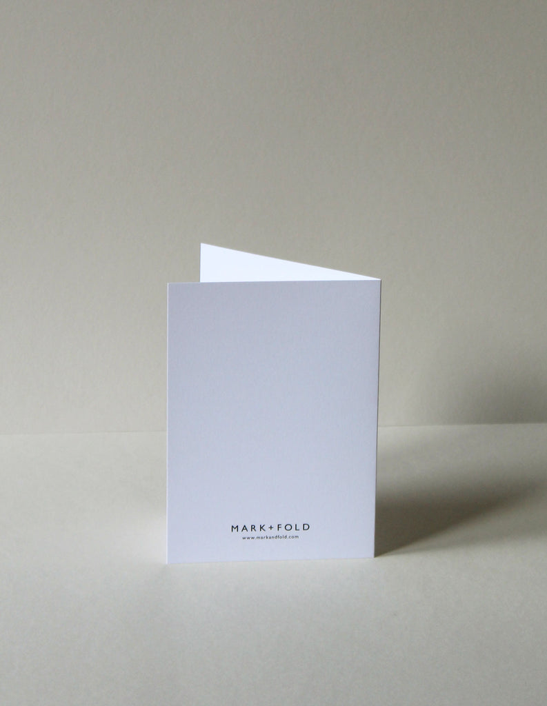 Bodoni Exclamation Card by Mark+Fold the modern stationer. Bodoni typeface originated in Italy in the 1700s. Exclamation cards suitable for all sorts of occasions from 'Congratulations!' to 'I love you!' Available to purchase at markandfold.com