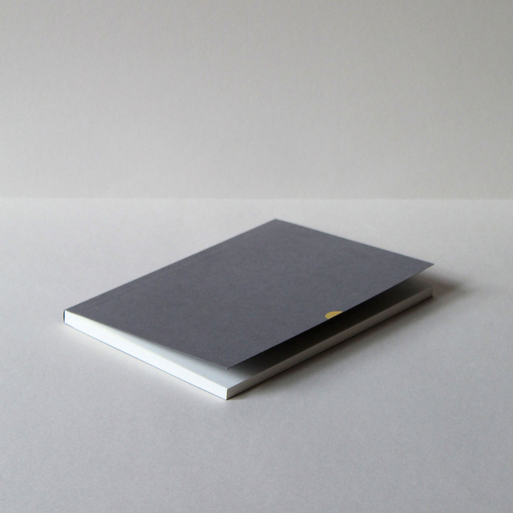 Notebok Mark Three in Grey, batch 1 October 2019. Mark+Fold notebooks use exceptionally goos quality paper, suitable for fountain pen, made sustainably, FSC-certified. Layflat binding using thread-sewing and cold glue ota-binding.