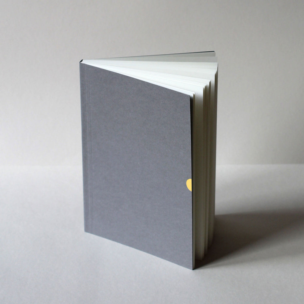 Mark+Fold Notebook Mark Three, published October 2019. In Navy and grey. Layflat notebooks, made sustainably in UK and Europe.