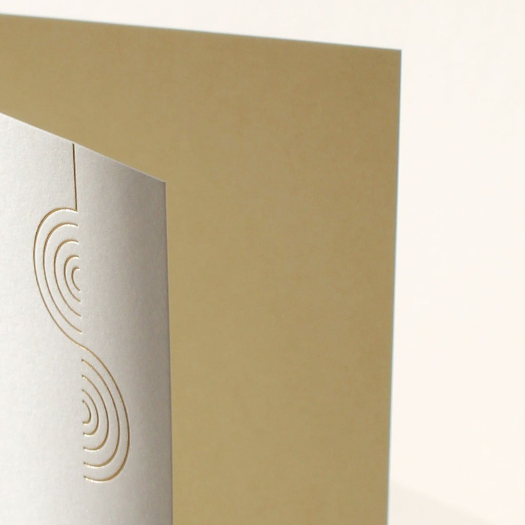 Gold foil detail, Mark + Fold pendant Christmas cards, printed in Scotland, made in the UK, sustainable Christmas cards.