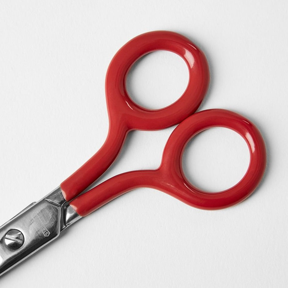 red penco scissors, minimal modern scissors stationery
