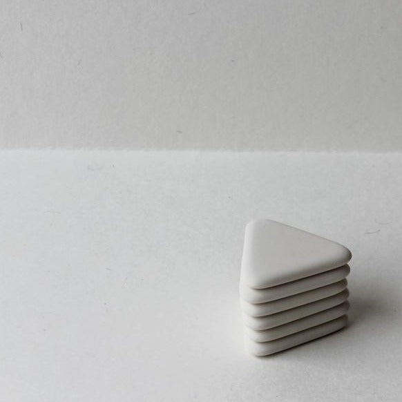White triangle eraser, made in Japan