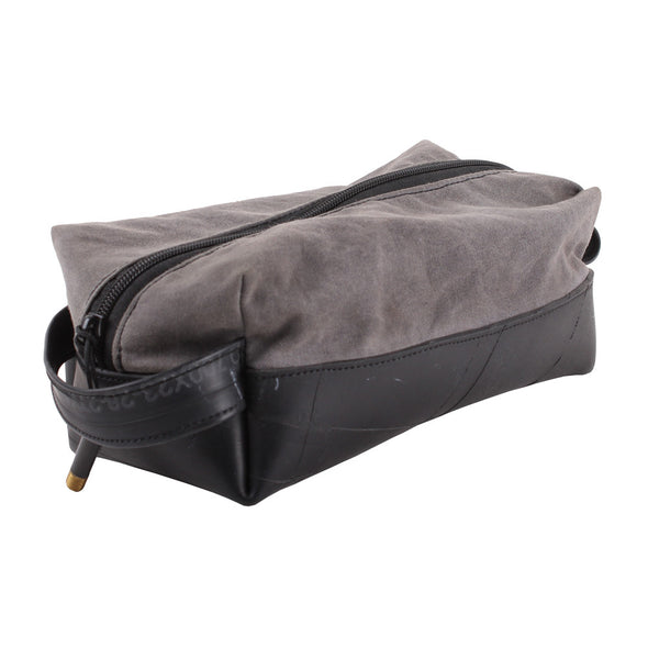 Elliott Dopp Travel Kit Waxed Canvas handle zippered vegan made in USA