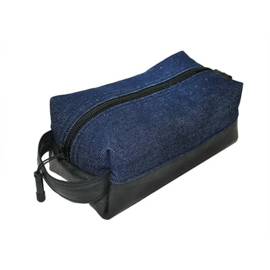 Limited Edition Denim Elliott Dopp Kit- Blue Denim