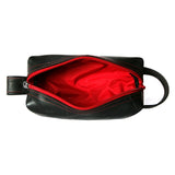 Elliott Travel Kit mini toiletry shave bag upcycled usa vegan grooming open red interior