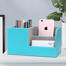 Load image into Gallery viewer, Leather Desk Organizer