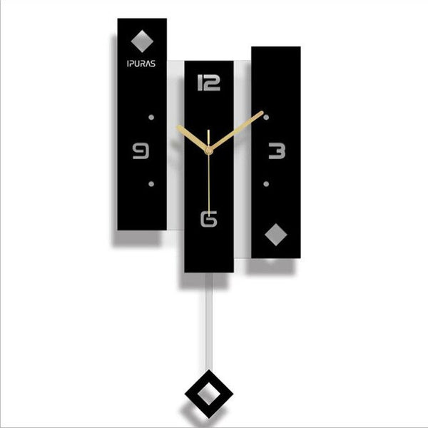 Wall Clock Quartz Nordic Clock With Pendulum Large Size Wall Watch
