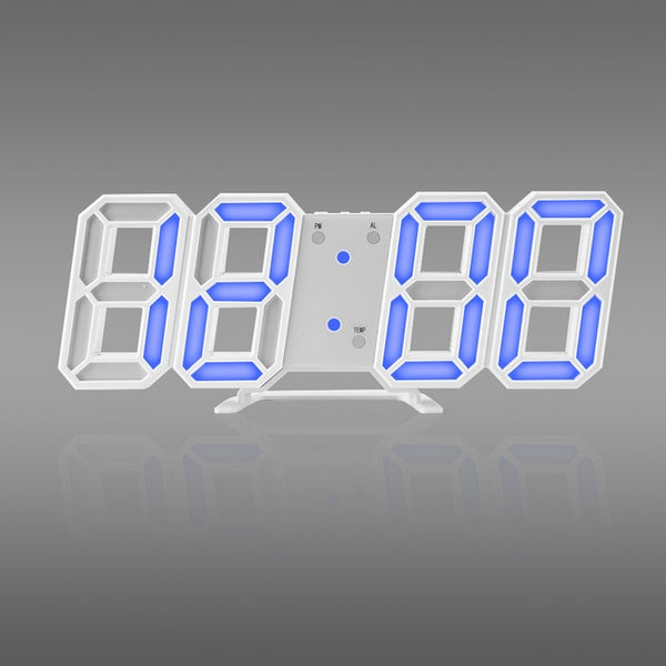 3D LED Wall Clock Modern Design Digital Table Clock