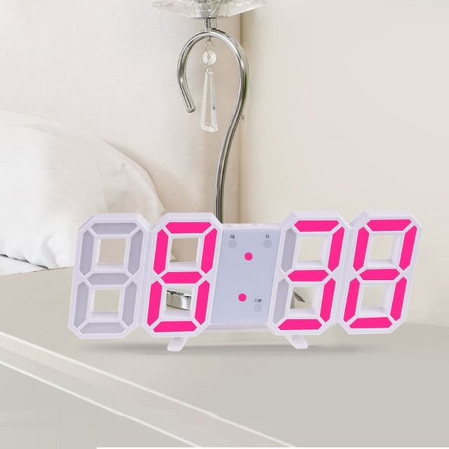 3D Large LED Digital Wall Clock
