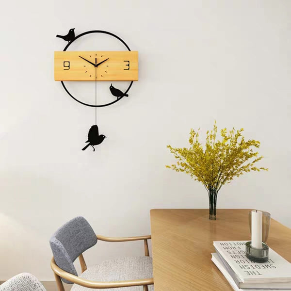 3D Birds Pendulum Wall Clock