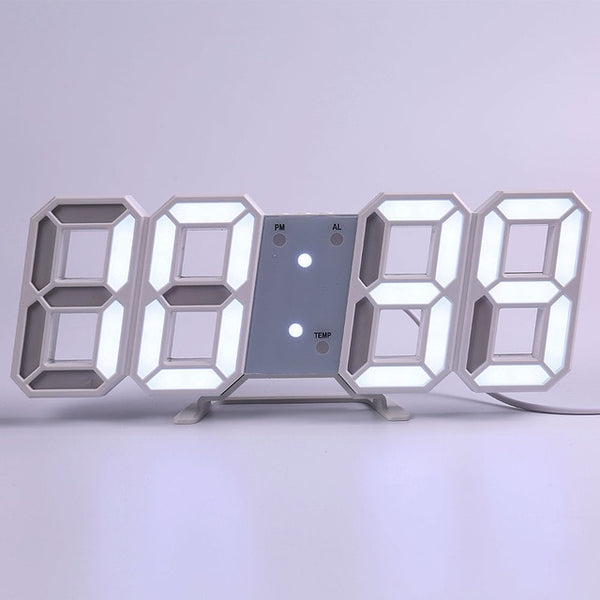 3D Led Digital Modern Design  Living Room Decor Table Alarm