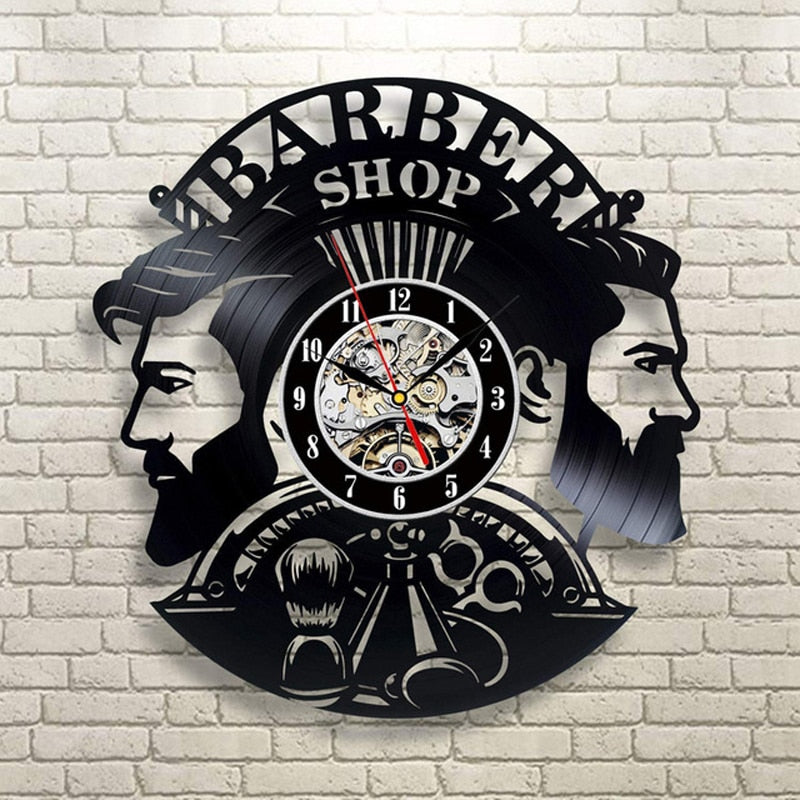 Barber Shop Wall Clock for Barber or Hairdresser Clock