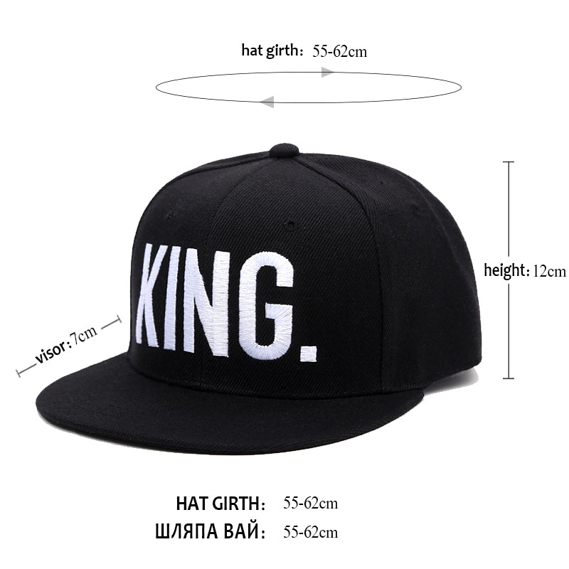 King & Queen Snapback Hat