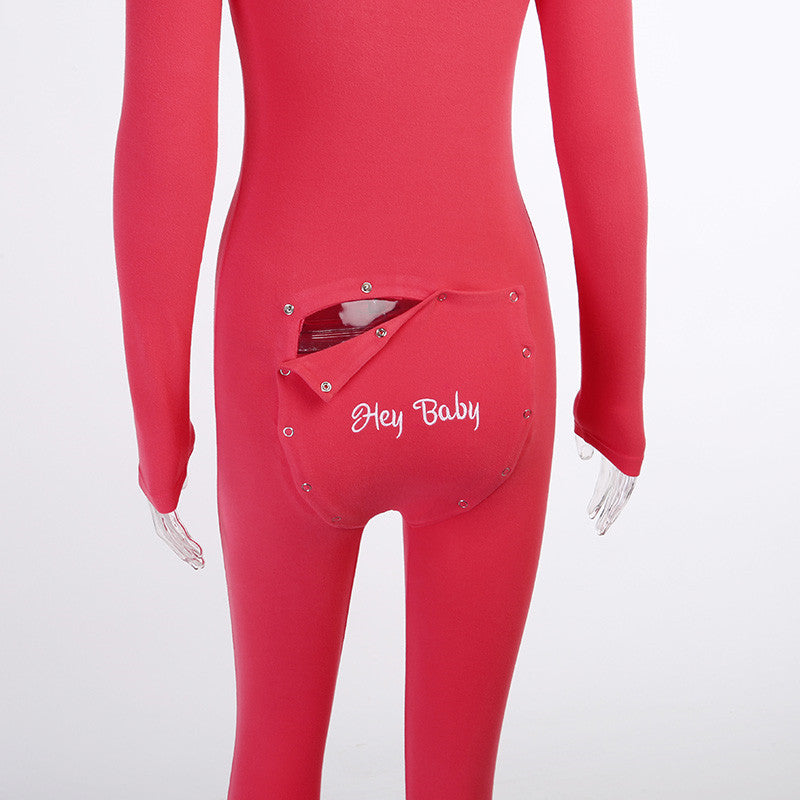 Long-sleeve Back Flap Onesie