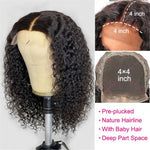 Deep Wave 4x4 lace closure Wig