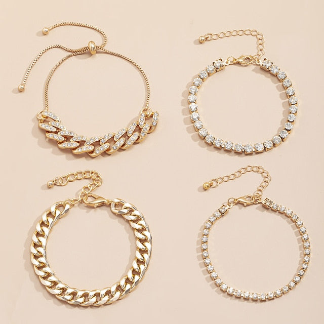 4pc Chunky Bracelet Set