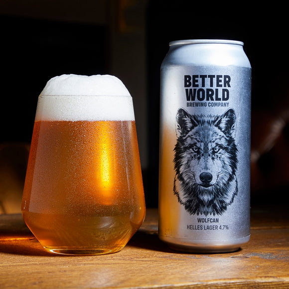 Better World Brewing - Wolfcan - Helles Lager - 4.7%ABV - 440ml Can
