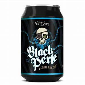 Weird Beard - Black Perle - Milk Coffee Stout - 3.8%ABV - 330ml Can