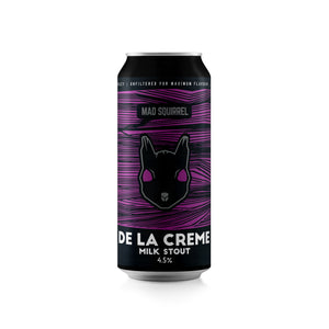 Mad Squirrel - De La Creme - Milk Stout - 440ml can - 4.5%ABV