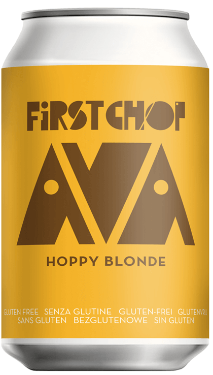 First Chop - Ava - Hoppy Blonde Ale - 3.5%ABV - 330ml Can
