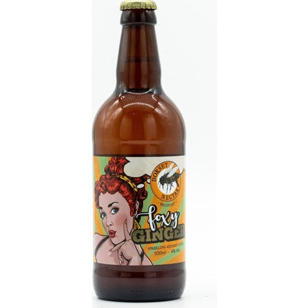 Dorset Nectar - Foxy Ginger Cider - 4%ABV - 500ml Glass Bottle