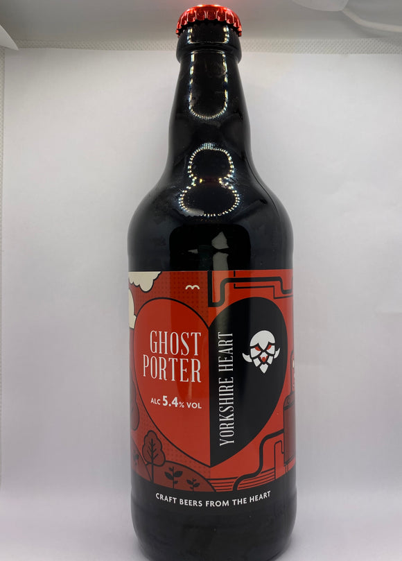 Yorkshire Heart - Ghost Porter - 5.4%ABV - 500ml Glass Bottle