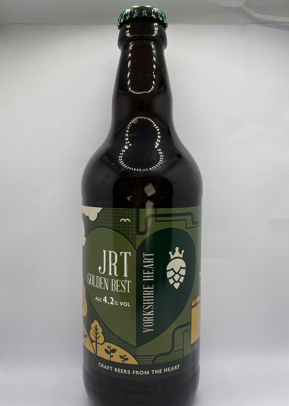 Yorkshire Heart - JRT Golden Best - Bitter - 4.2%ABV - 500ml Glass Bottle