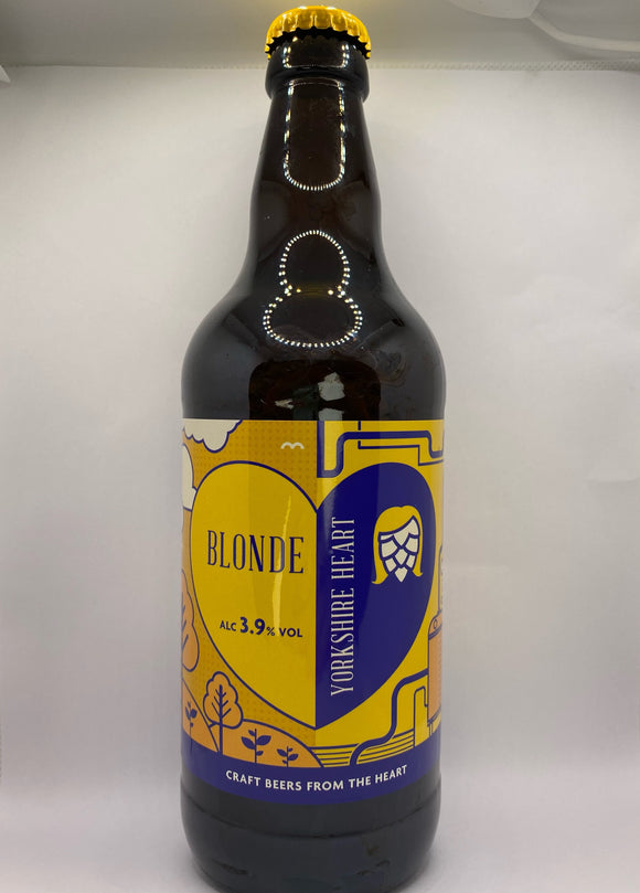 Yorkshire Heart - Blonde - 3.9%ABV - 500ml Glass Bottle