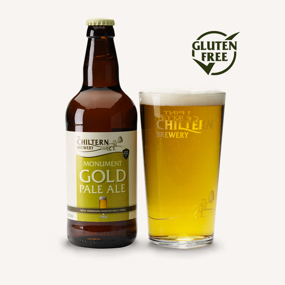 The Chiltern Brewery - Monument Gold - Pale Ale - 3.8% ABV - 500ml Bottle - Gluten Free