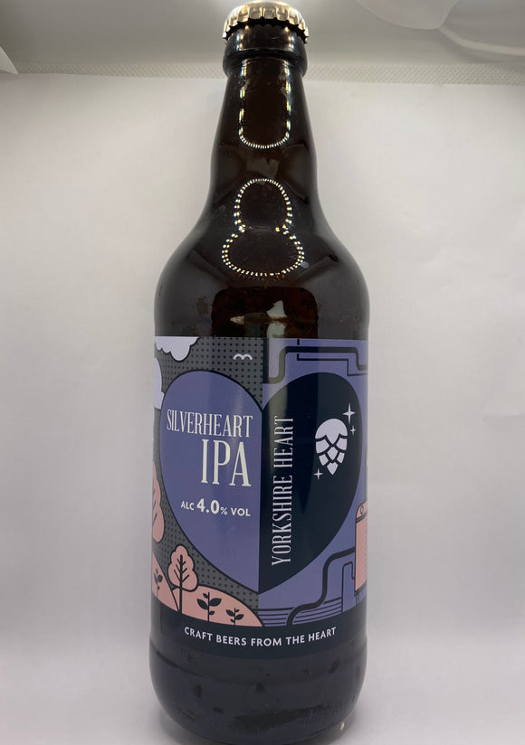 Yorkshire Heart - SilverHeart IPA - 4.0%ABV - 500ml Glass Bottle
