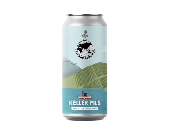 Lost and Grounded - Keller Pills - Pilsner - 4.8% ABV - 440ml Can