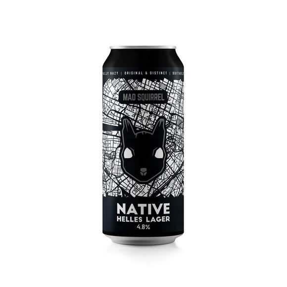 Mad Squirrel - Native - Helles Lager - 440ml can - 4.8%ABV