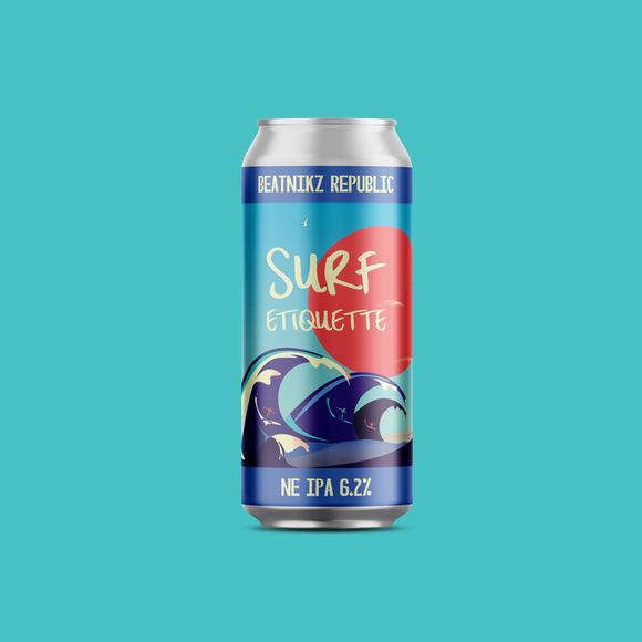 Beatnikz Republic - Surf Etiquette - IPA - 6.2%ABV - 440ml Can