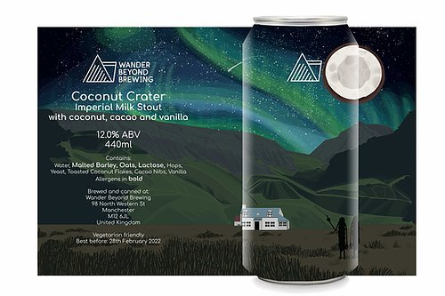 Wander Beyond - Coconut Crater - Imperial Milk Stout - 12%ABV - 440ml