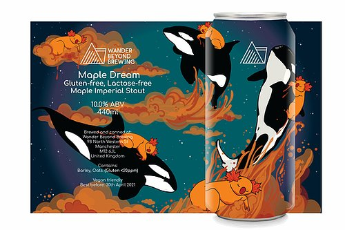 Wander Beyond - Maple Dream - Maple Imperial Stout - 10%ABV - 440ml Can