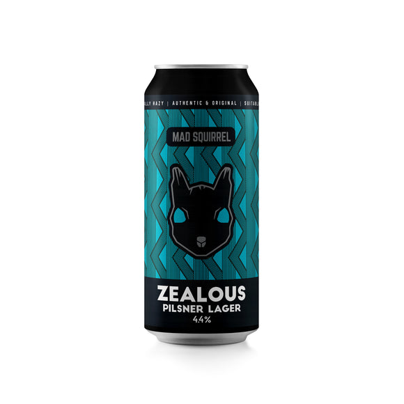 Mad Squirrel - Zealous - Pilsner Lager - 440ml can - 4.4%ABV