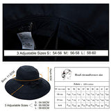 Women UPF 50 UV Protection Outdoor Bucket Gardening Hat Navy