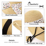 Summer Straw Hat for Women Sun UV Protection Foldable Wide Brim SPF 50 Crushable FashionBeige